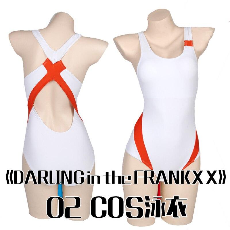 زي تنكري مثير للنساء ، ملابس سباحة دارلينج إن ذا فرانكس زيرو كوسبلاي قطعة واحدة سوكوميزو