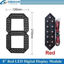 "4 unids/lote Módulo de número Digital LED de 7 segmentos para exteriores, Color rojo de 8 "", módulo de pantalla LED para Precio de Gas"