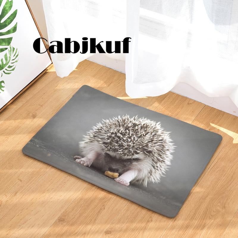 High Quality New Arrival HD Funny Hedgehog Print Dust-Proof Carpets Bathroon Mats Anti-Slip Rugs