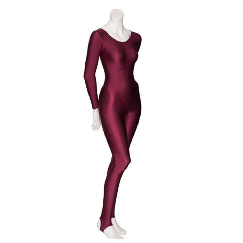 ICOSTUMES para mujer de manga larga Unitard Stirrups cuerpo completo negro Lycra Mono para gimnasia Ballet traje de baile trajes
