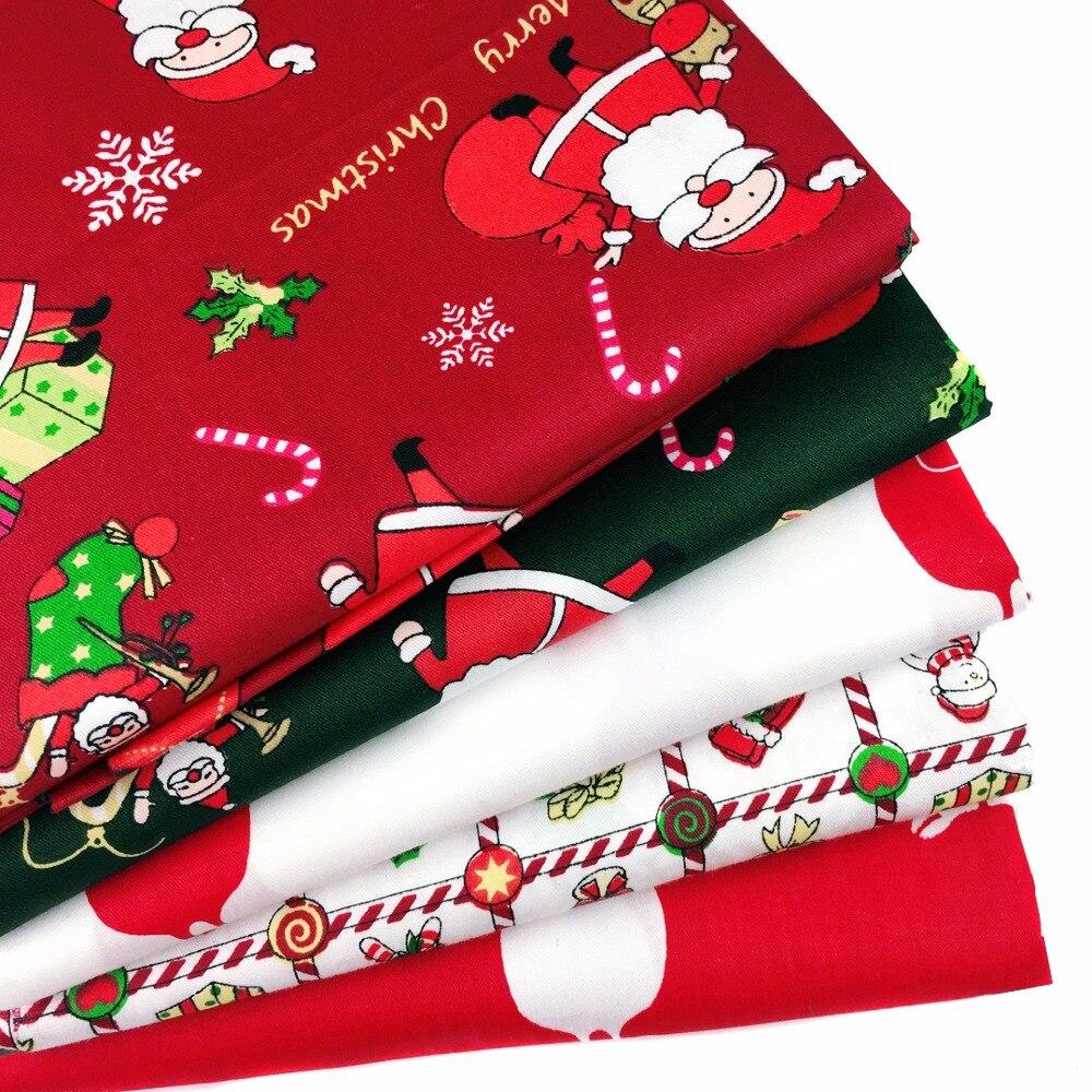Serie de Navidad 100% tela de algodón bricolaje costura acolchado muñeca tela de chico hecho a mano material de costura Telas para Patchwork 40x50cm