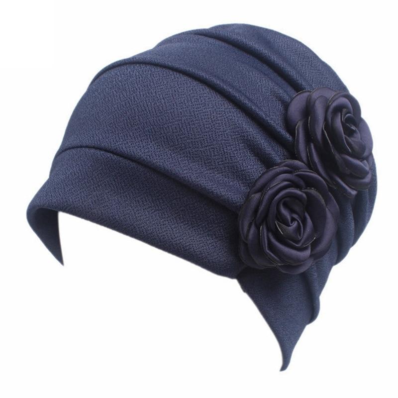 2019 Womens Cap Floral Lady Turban Hat Spring Womens Hats Hairnet Muslims Chemo Cap Flower Bonnet Beanie