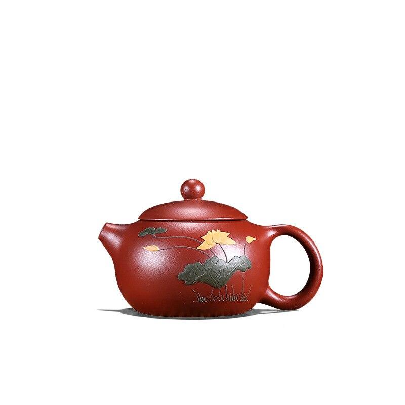 إبريق شاي صيني yixing zisha dahongpao مصنوع يدويًا من الطين ، إراحة زهور ، إناء شاي xishi يحمل علامة تجارية في الصين لشاي Pu'er ، جديد