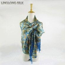 100% Silk Charmeuse Satin Tassel Scarf 55cm*160cm Long Scarf Women Pure Mulberry Silk Scarves Party Dress Shawl Fashion Scarf
