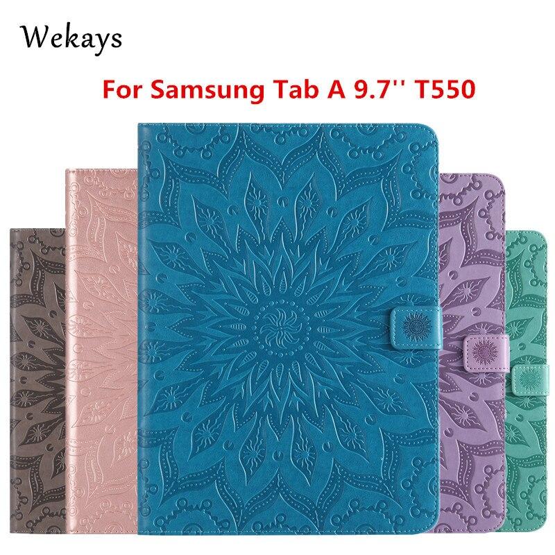 """Wekays para Galaxy Tab A 9,7 """"T550 Funda de cuero inteligente con soporte para Samsung Galaxy Tab A 9,7 T550 t551 T555 fundas para Tablet"""