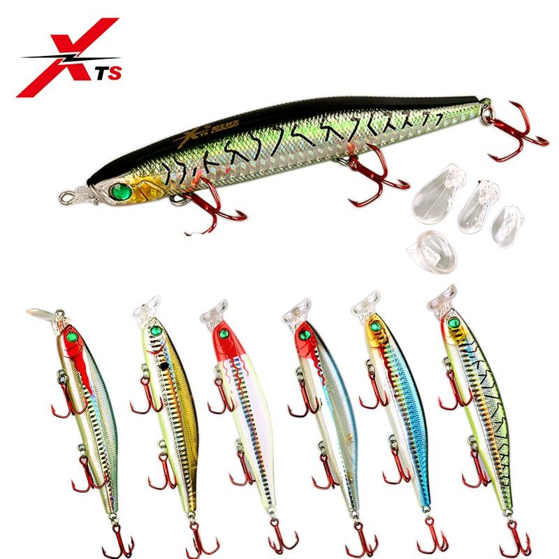 XTS de señuelo de pesca 90mm 105mm 124mm Artificial duro Popper piscardo cebo estilo lápiz 7 colores Topwater flotante 4 labios de señuelo de pesca 5345