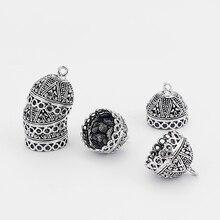 5 pièces cloche forme embouts perles bouchon rond pour gland bricolage fabrication de bijoux 18*18mm