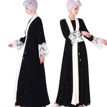 Moslim vlakte zwarte abaya kimono Dubai Turkije jurk voor lady