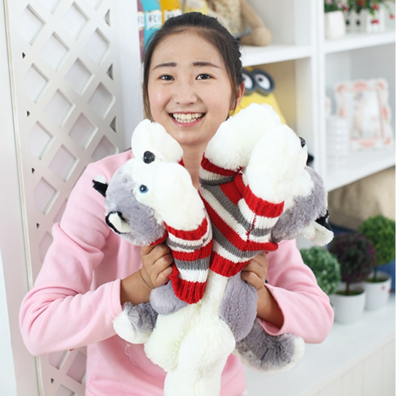 1pc  40 cm Cartoon gray sweater husky dog