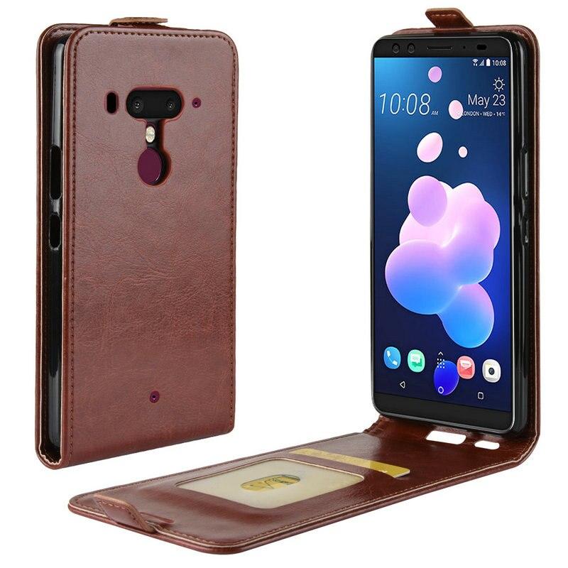 "For HTC U12 Plus WIERSS Luxury Retro Leather Cover case for HTC U12 Plus U12+ 6"" Wallet flip leather cases coque fundas Etui>"