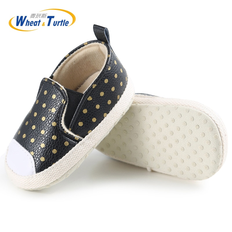 Mother Kids Baby Shoes First Walkers Infant Newborn Girls Polka Dots Spring Autumn Slip On Sneakers