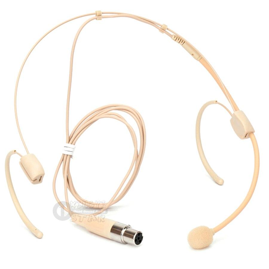 Mini XLR 4 Pin TA4F Dual Earhook auriculares sistema de micrófono para SHURE diadema inalámbrica Mic PG1 PG4 PG88 PG1288 PG58 PG14 UT1 UR5