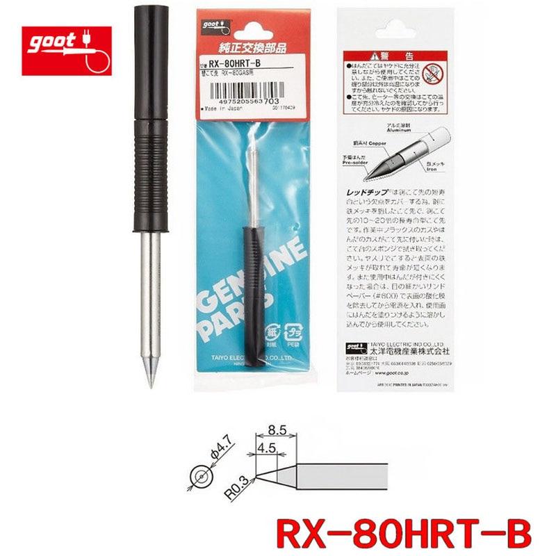 Japón Original GOOT RX-80HRT serie de reemplazo de soldadura punta para Estación de soldadura RX-802AS RX-812AS RX-822AS RX-852AS