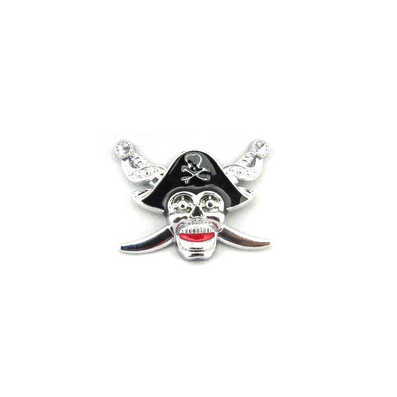Металлическая 3D Пиратская Автомобильная наклейка эмблема значок Логотип