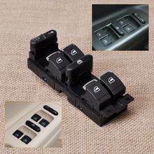 DWCX 3BD959857/1J4959857 negro + cromo maestro interruptor controlador de ventana bisel para VW Jetta Golf GTI MK4 Passat del lado del conductor