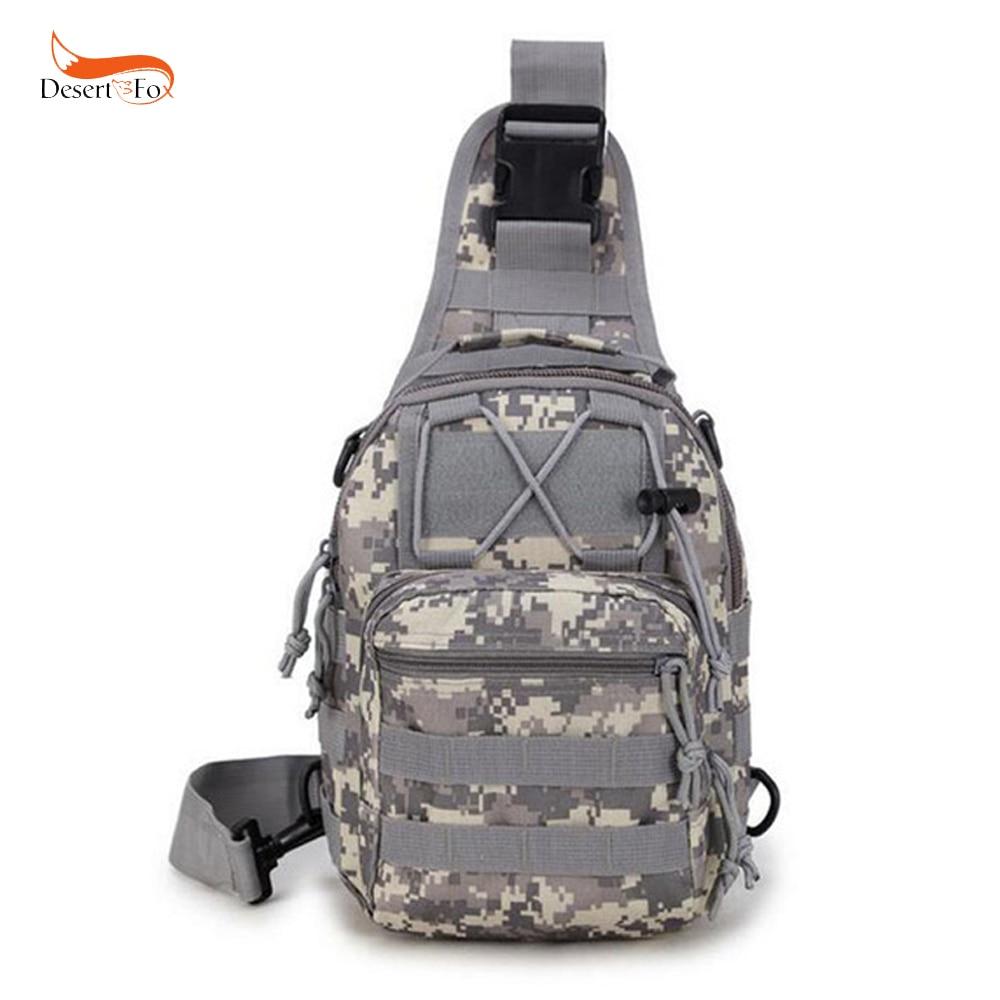 5 Color al aire libre camuflaje militar Sling Pack 600D Cordura urbano deportes bolsa impermeable de caza Molle bolsa de mensajero
