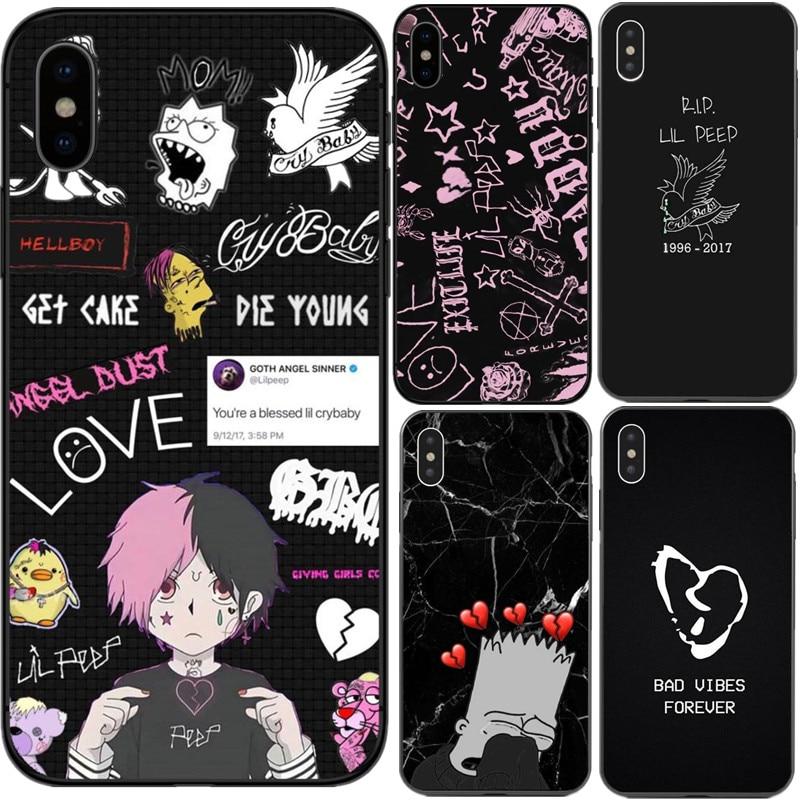 Xxxtentacion Lil Peep cry Baby rose bad vibes forever TPU чехлы для телефонов iPhone X 5 5S SE 6 6s Plus 7 8 Plus XS XR XS MAX
