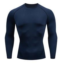 Long sleeve tshirt Compression Tights Men Fitness Running Shirt Breathable Long Sleeve Sport Rashgard Gym Clothing #XTN
