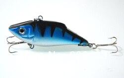 10 PCS azul pesca VIB peixe isca Lures Minnow Crankbait iscas / combater 7 cm 11 g