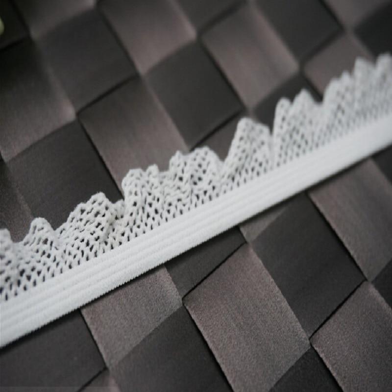 Accesorios de encaje de algodón elástico encaje beige DIY tela decorativa encaje de cortina gran oferta