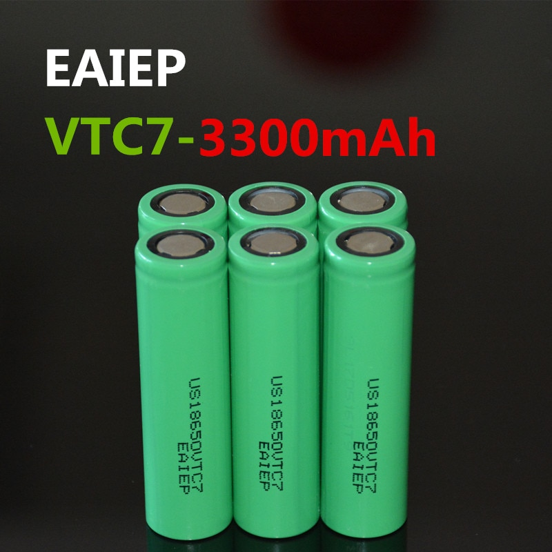 6 uds. 100% nuevo original US18650VTC7 3300mAh batería 18650 3,7 V descarga 30A dedicado EAIEP productos electrónicos gran capa