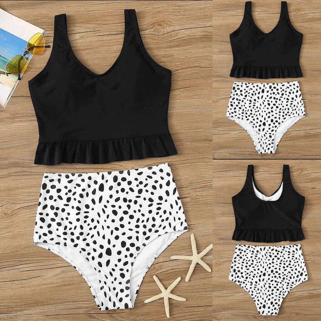 Las mujeres de dos piezas imprimir Split Sexy Bikini traje de baño de Playa de las mujeres 2019 de moda push-up traje de baño estilo brasileño
