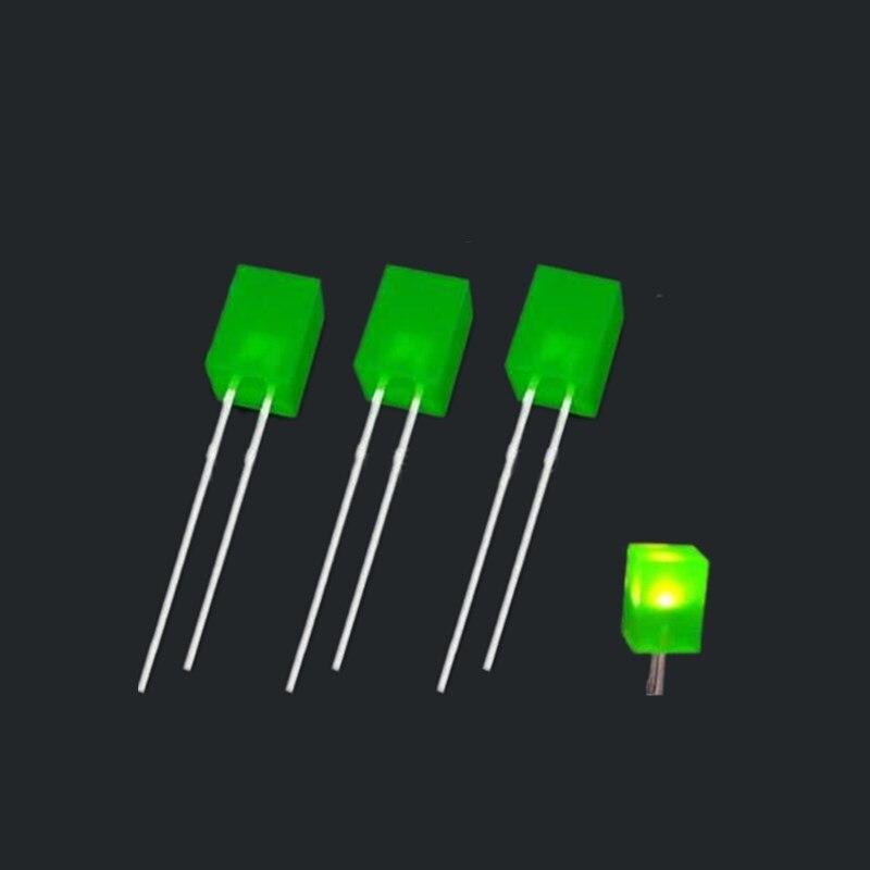 ضوء LED قصير للساقين ، 1000 قطعة ، 557 مللي متر ، أخضر/أحمر/أصفر