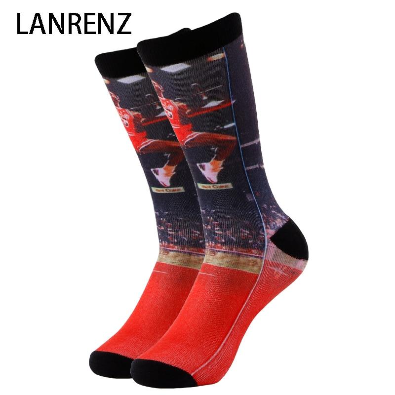 2020 All-Star serie impresión 32 hombres y mujeres moda divertidos calcetines 3d impreso calcetines 200 tejer pintura al óleo compresión calcetín