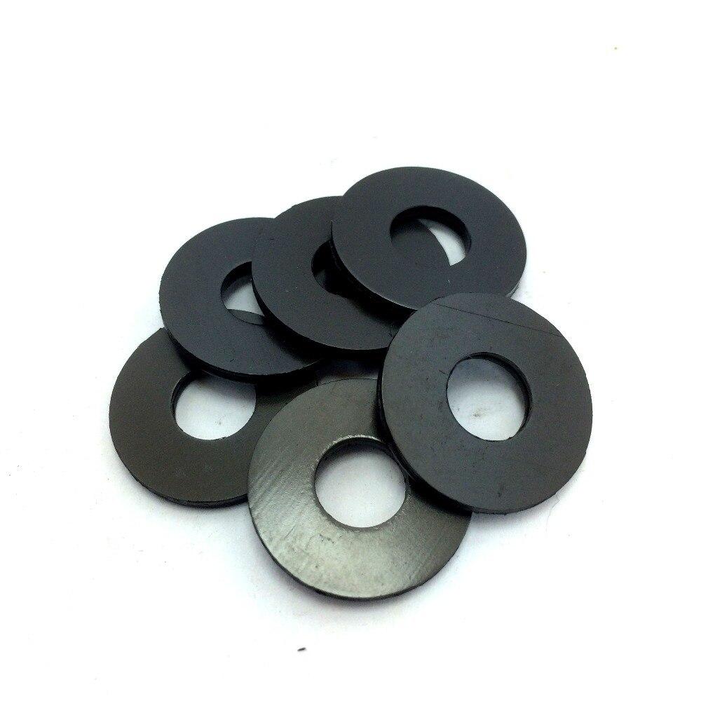 Arandelas de núcleo de fibra negra de doble grosor para máquina de tatuaje de 50 piezas, piezas de carpeta