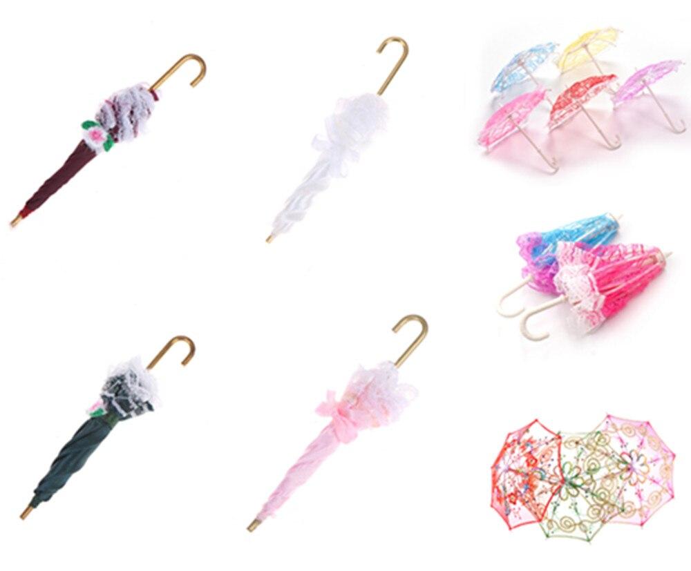 Милый зонтик, аксессуары для куклы ручной работы, вышитый зонт для куклы, аксессуары для игрушек, подарок для детей