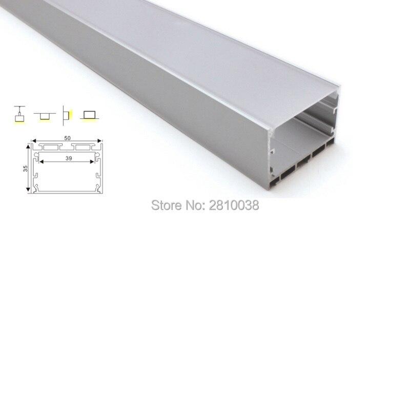 100 X 2M Sets/Lot linear light led aluminum channel Large square shape aluminium led extrusion profiles for suspension lamps