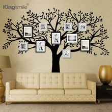 Büyük Aile Fotoğraf Ağacı Vinil duvar çıkartmaları Siyah Ağaç Dalları Çıkartmaları Duvar Kağıdı Duvar Sticker Oturma Odası için Kanepe Ev Dekor