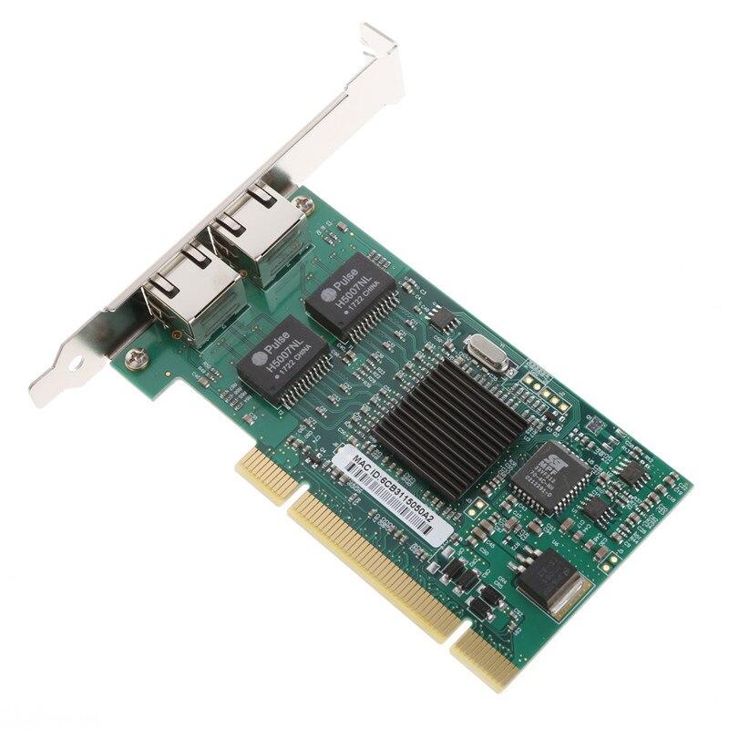 PCI 32Bit 6 capa placa PCB/10/100/1000 Mbps doble RJ45 interfaz de puerto Gigabit Ethernet Lan de la red tarjeta