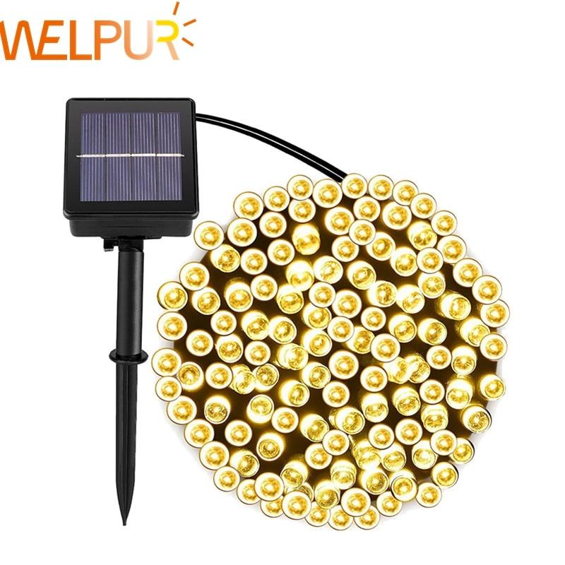 Solar String Lamps For Garden Waterproof Outdoor Lighting 5M 7M 12M 22M 6V Christmas Xmas Holiday De