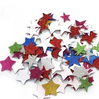 3d glitter star adhesive foam sticker card craft cardmaking scrapbooking home house room party decoration kid diy toys