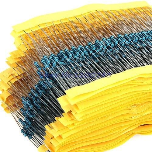 300 шт. 1/4 Вт металлический пленочный резистор 1R ~ 2,2 м 100R 220R 330R 1K 1,5 K 2,2 K 3,3 K 4,7 K 10K 22K 47K 100K 100 220 330 1K5 2K2 3K3 4K7 ом