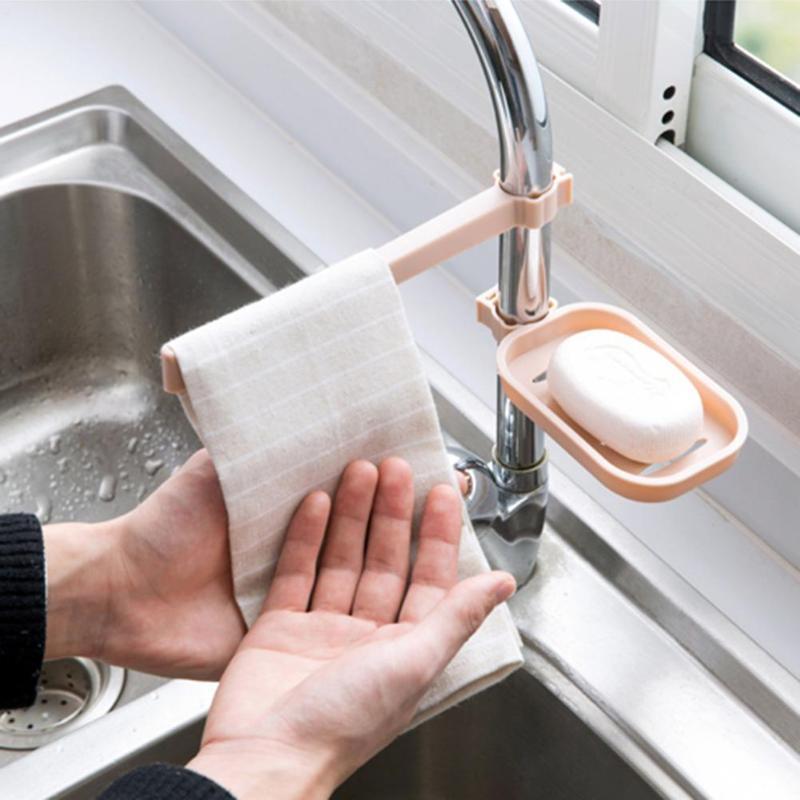 Горячая стойка держатель для хранения раковина висячая губка для хранения ванная комната кухонный кран зажим для посуды Ткань зажим полка ...