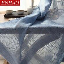 ENHAO-rideaux en Tulle japonais   Pour salon, chambre à coucher, rideaux de cuisine en Tulle pour fenêtre, rideaux en Voile pour porte de fenêtres transparentes