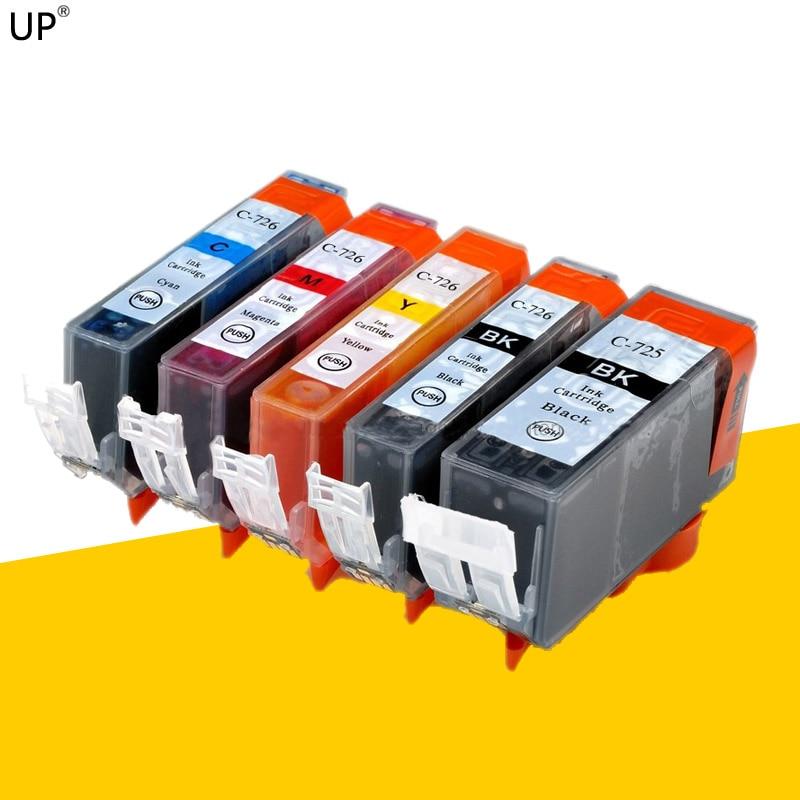 Cartouche dencre 5 couleurs pour imprimante canon PIXMA, compatible PGI725 CLI726, MG8170, MG6170, MG5270, MG5370, IP4870, IP4970, IX6560, MX886