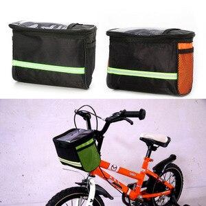 Bicicleta ciclismo bicicleta guiador saco cesta frente quadro tubo bolsa pannier ao ar livre bisiklet aksesuar