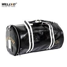 Wellvo hommes en cuir voyage bagages sacs grande capacité sac de formation pour le stockage de chaussures femmes sac à bandoulière week-end sacs XA39ZC