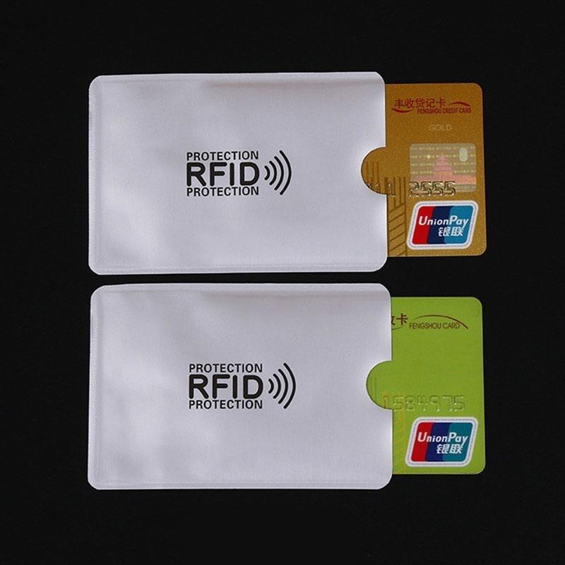 20 pcs Anti-Scan Card Sleeve Credit RFID Card Protector Anti-magnetic Aluminum Foil Portable Bank Card Holder недорого