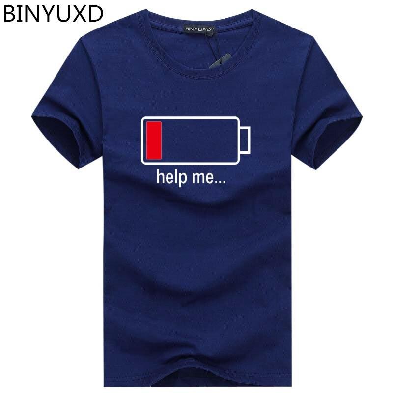 Batterien mode persönlichkeit shirt männer T-shirt lustige design baumwolle sommer kurzhülse marke kleidung heißer verkauf mens tops tees