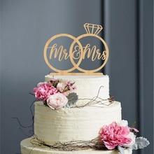 السيد والسيدة كعكة الزفاف توبر ، خواتم كعكة توبر ل الزفاف ، السيد والسيدة كعكة توبر ل الزفاف ، ريفي الخشب الاكريليك كعكة ديكور