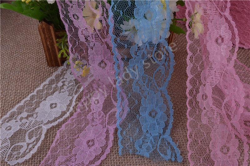 495yards 5.8cm wide  Handicrafts   Net Lace Trim Ribbon  Flat Lace Trim Gorgeous Wedding Crafts Sewing many colors