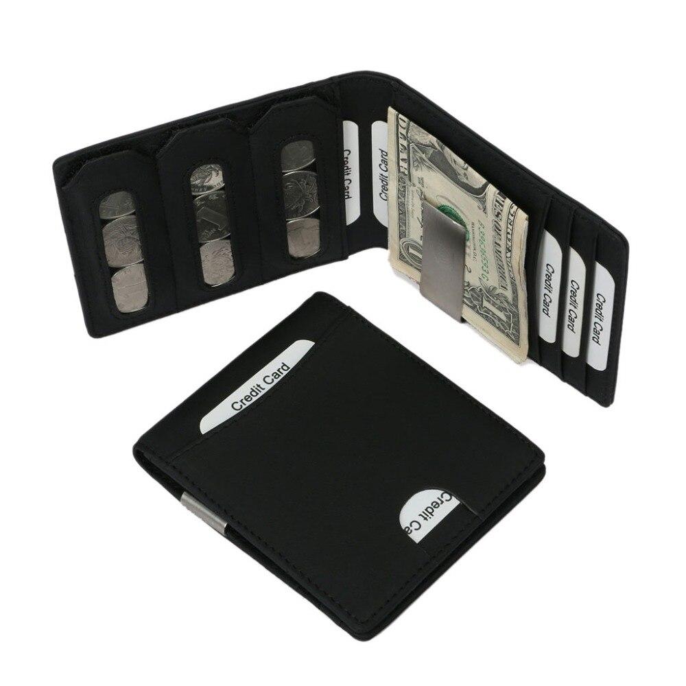 THINKTHENDO Männer Frauen ID Kredit Halter RFID Schutz Geld Clip Brieftasche Karten Fall Neue Heiße Männlich Männlich Schwarz Karte Veranstalter