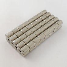 Disque magnétique en néodyme, 100 pièces, 4x5mm, terre rare, aimants permanents en vrac revêtus de nickel, N52, livraison gratuite