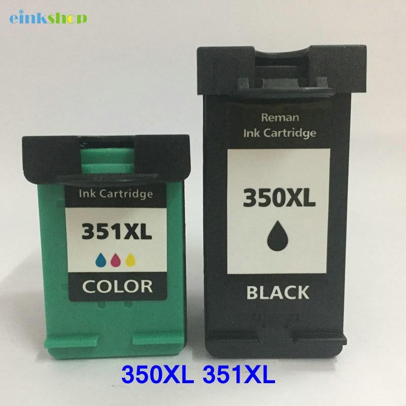 Einkshop compatible 350xl 351xl reemplazo de cartucho de tinta para hp 350 351xl para hp Photosmart C4480 C4483 C4380 4480 impresora 4580