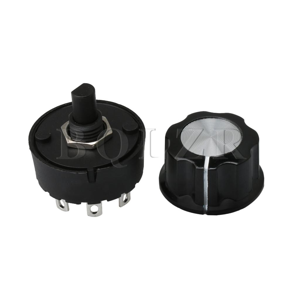 BQLZR commutateur rotatif et bouton   5 Positions, 4 temps de rotation, sélecteur pour mélangeur, presse-agrumes, Machine à lait de soja, appareil électroménager