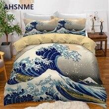 AHSNME Sea Surfing Printed Duvet Cover Set 2/3pcs Bedding Set Australia Single Double Size Jogo de Cama Dropshipping